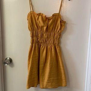 Reformation size 12 mustard yellow linen dress